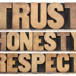 Stock Photo: Trust, honesty, respect