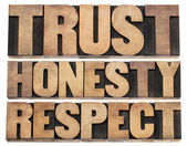 Trust, honesty, respect — Foto Stock