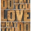 Do what you love - 图库照片