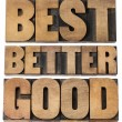 Постер, плакат: Good better best typography