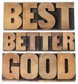 Bon, mieux, bonne typographie — Photo