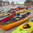 Kayaks and canoes — Stock Photo #24026503