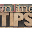 online tips — Stock Photo