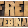 Free webinar in wood type — Stock Photo #24466655