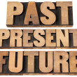 Stock Photo: Past, present, future