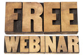 Free webinar in wood type — Stock Photo