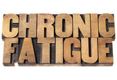 Chronic fatigue in wood type — Stock Photo