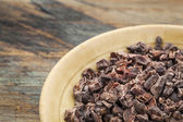 Raw cacao nibs — Stock Photo