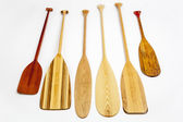 Wooden canoe paddles — Stock Photo