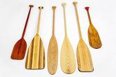 Wooden canoe paddles — Stock Photo