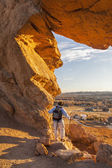 Wandelaar op devils backbone — Stockfoto