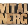 Vital energy in wood type — Stock Photo