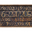 Wood type numbers in a box — Stock Photo
