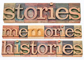 Stories, memories, histories — Stock Photo