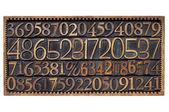 Numery typu drewna w pudełku — Zdjęcie stockowe
