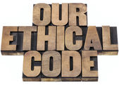 Our ethical code — Stock Photo
