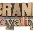 Brand loyalty in wood type — Stock Photo