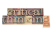 Critical thinking in wood type — Stock Photo
