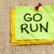 Go run reminder - Stock Photo