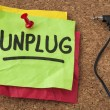 Stock Photo: Unplug - information overload concept