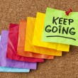 Stock Photo: Keep going motivation concept