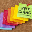 Keep going motivation concept - Stock Photo