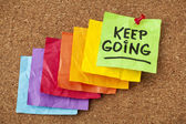 Keep going motivation concept — Foto Stock