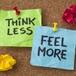 Think less, feel more advice — Stockfoto