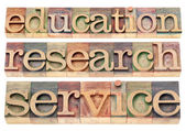 Education, research and service — Stock Photo