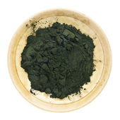 Organic chlorella powder — Stock Photo