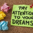 Stock Photo: Pay attention to your dreams