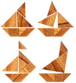 Tangram veleros — Foto de Stock