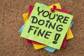 You are doing fine — Stock Photo