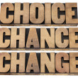 Foto Stock: Choice, chance and change