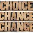 Stock Photo: Choice, chance and change