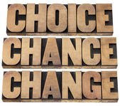 Choice, chance and change — Stock Photo
