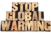 Stop global warming — Stock Photo