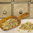 Stock Photo: Organic chamomile herbal tea