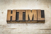 Html acronym in wood type — Stock Photo