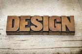 木材の種類のデザインの単語 — ストック写真