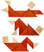 Tangram figures de repos — Photo