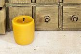 Bee wax candle — Stock Photo