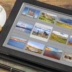 ������, ������: Colorado pictures on digital tablet