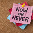 Постер, плакат: Now or never motivational reminder