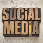 Social media in wood type — Stock Photo #27686893