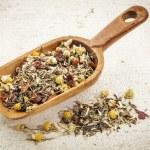 Scoop of herbal tea — Stock Photo