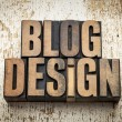 Blog design in wood type — Stock Photo