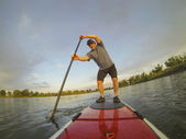 Paddling stand up board — Stock Photo