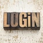 Login word in wood type — Stock Photo #28178959
