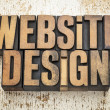 Stock Photo: Website design in wood type